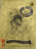 Tirez la languette, 2000, Seoul, acrylic on rice paper