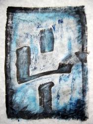 Jaji- Jajima, 2004, Seoul, ink and acrylic on rice paper