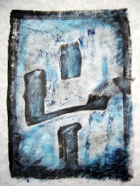 Jaji- Jajima, 2004, Seoul, ink and acrylic on rice paper