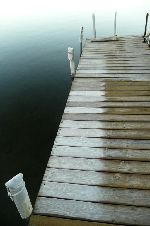 Frozen dock, 2008