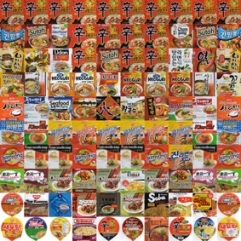 100 Ramyeon packages, 2012, dim. var.